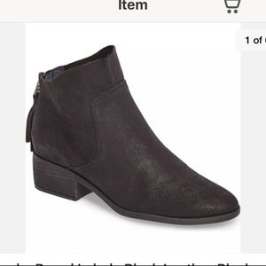 Lucky Brand Lahela Black Leather Ankle Booties